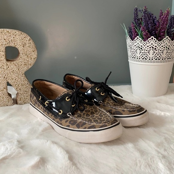 ✨Sold✨ Sperry Top-Sider Boat Shoes Leopard Print
